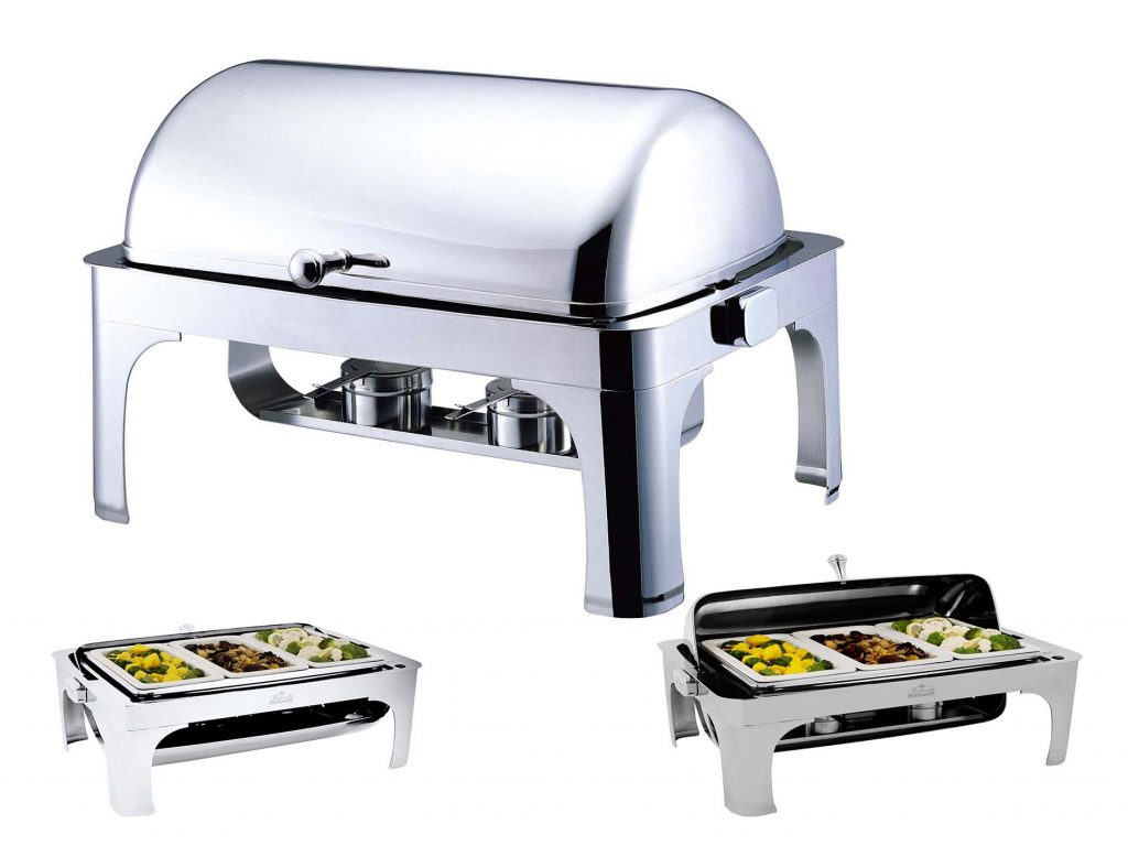 CHAFER RECTANGULAR ROLL TOP – CONTEMPORARY (Note: Please specify order code for correct sizes/product when placing order)