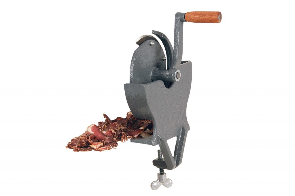 BILTONG SLICER/CUTTER – HAND OPERATED- ALUMINIUM – TABLE MOUNTED