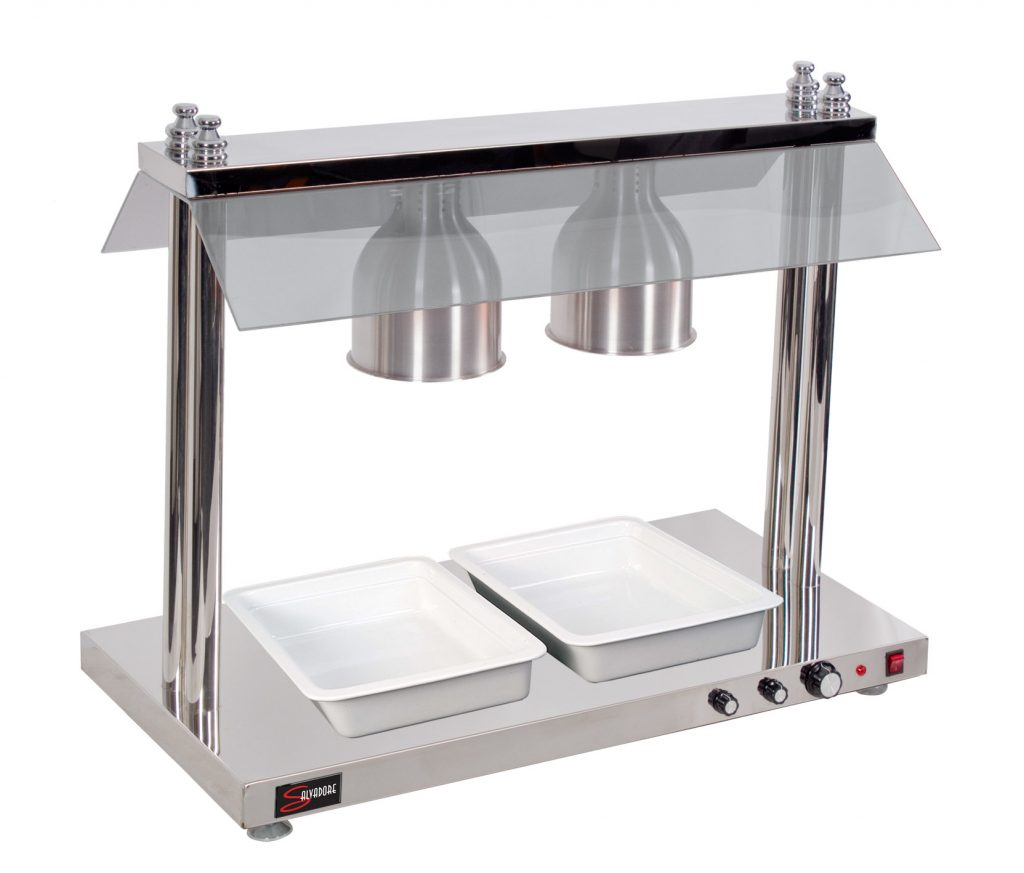HEATED FOOD DISPLAY STATION SALVADORE – 2 LIGHT – WITH HEATED BASE