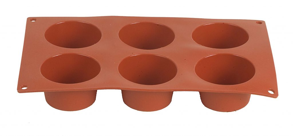SILICONE MOULDS – MUFFIN 6 CUPS – 70 x 40mm