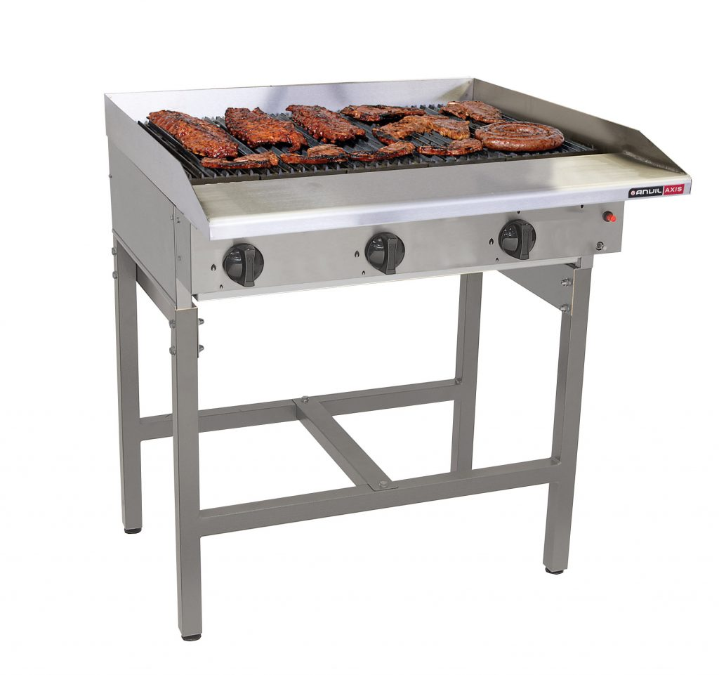 FREE STANDING GAS GRILLERS- 6 BURNER RADIANT – FREE STANDING