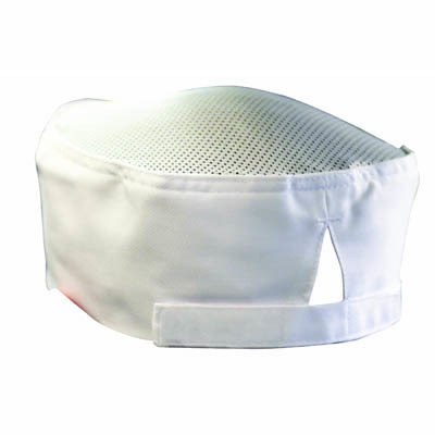 ACCESSORIES – CHEFS EZI BREATHE HAT WHITE – WITH INTERNAL SWEAT BAND & ELASTIC BACK