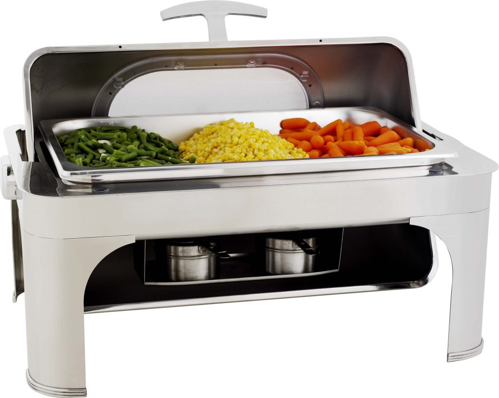 CHAFING DISH – WITH WINDOW 8.5Lt  RECTANGULAR