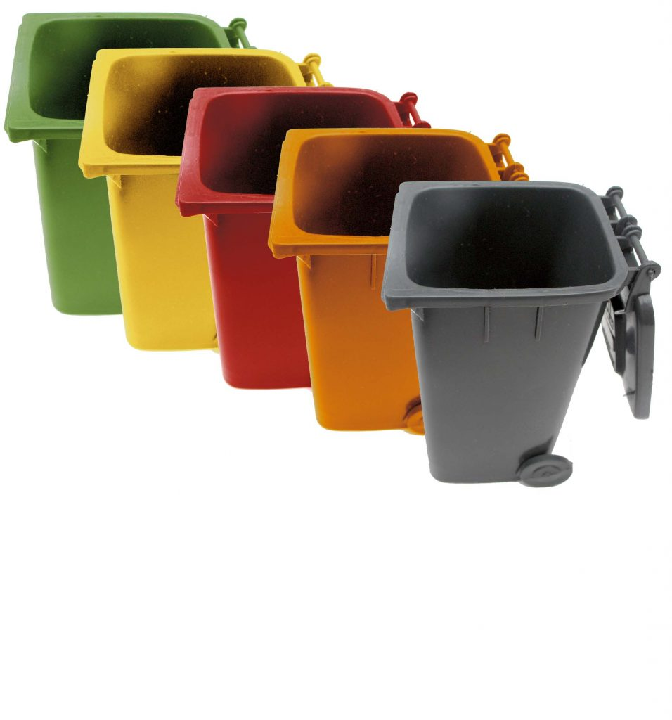 MOBILE REFUSE BIN -240Lt – ORANGE (PAPER)