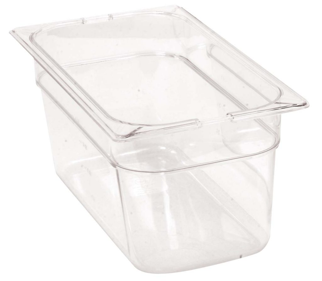 FOOD PANS THIRD -INSERT – THIRD 150mm POLYCARB (CLEAR) – 5.4Lt