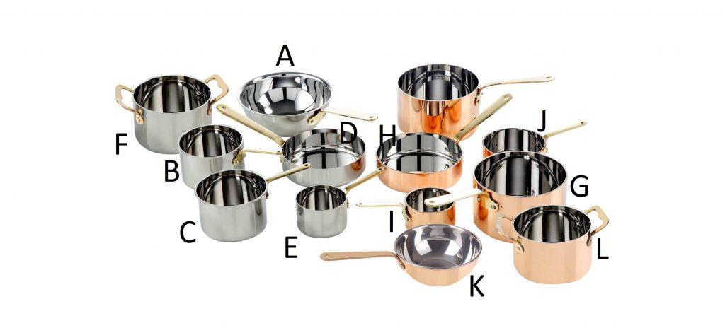 MINI SERVING POTS & PANS -S/STEEL FRYING PAN – 120 x 35mm