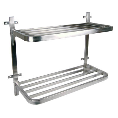 POT RACKS STAINLESS STEEL- DOUBLE WALL MOUNTED – 900 x 400 x 760mm